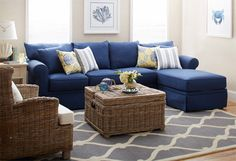 replace rug with sisal and wicker with leather, add master bedroom curtains. Love!
