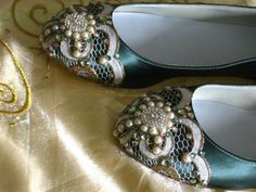 Looping Lace Celtic Ballet Flat Wedding Shoes