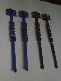 4 MAXIM CASINO (LAS VEGAS) Swizzle Sticks Drink Stirrers SPIR-IT USA blue brown