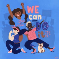 We can do it - the future is equal - Feminist - Feminism - Feminist Art - Illustration by Susann Hoffmann