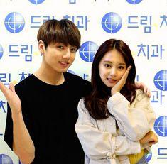#kpop #bts #twice #tzukook #couple Bts Twice, Kpop Couples, Tzuyu Twice, Korean Couple, Fake News, Bts Jungkook, Bts Memes, Foto E Video, Relationship Goals