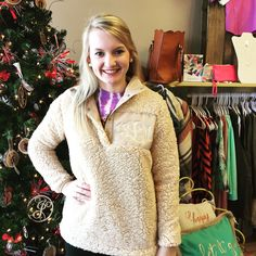 A personal favorite from my Etsy shop https://www.etsy.com/listing/479083698/sherpa-fleece-pullover-with-monogram