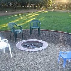 An in-ground fire pit helps build community.