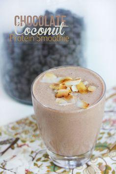 Chocolate Coconut Smoothie #glutenfree #dairyfree #paleo