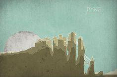 Pyke - Minimalist Castles by Nicolas Hyde #agot #got #asoiaf
