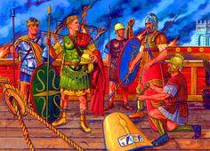 Octavio triunfador en Accio,