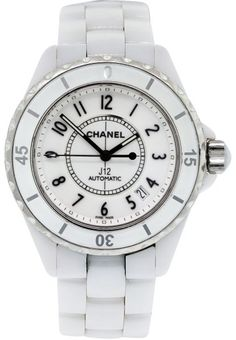 Chanel J12 Ceramic White Automatic Womens Watch 38mm.