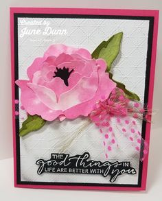 Hand Made Greeting Cards, Making Greeting Cards, Greeting Cards Handmade, Flower Cards, Paper Flowers, Peonies Garden, Pretty Cards, Sympathy Cards, Stamping Up