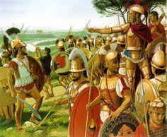 The Etruscan king Lars Porsena at the gates of Rome