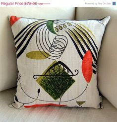 SPRING SALE Retro Eames Pillow Cover  Space Age by atomiclivinhome, $70.20