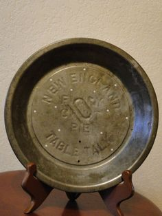 Vintage Pie Pan - New England Table Talk Pie Tin Plate by TheRetroCafe on & Vintage Pie Pan New York Athletic Club NYAC 1940u0027s UNUSED - Treasury ...