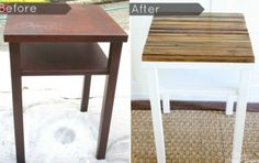 Madera DIY Antiguo Mesita Renovación Con regenerado | Shelterness