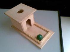 DIY Montessori Infant Object Permanence Box