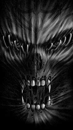 Horror Art by Michael Eastwood Skull Tattoo Design, Skull Tattoos, Body Art Tattoos, Tatoos, Dark Fantasy Art, Dark Art, Skull Stencil, Totenkopf Tattoos, Skull Pictures