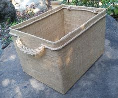 cajas forradas con arpillera - Buscar con Google