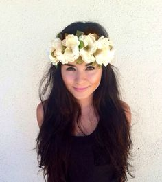 Beautiful flower crown headband perfect for all ages! Flowers are attached to an elastic headband. One size fits all  Newly handmade  Flowers