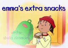 """@Amy Lyons Lyons Shade says, """"As much as Caillou's voice grated on me when my kids watched that show, I have to appreciate that they have created this episode!""""      * Emma is Caillou's friend. She has Type 1 Diabetes.*"""