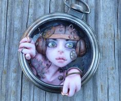 Peers Steampunk Pocket Watch Myxie Sculpture por MysticReflections