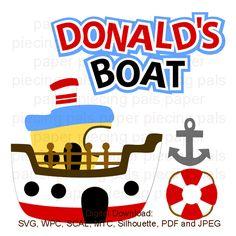 SVG cut file, Donalds Boat