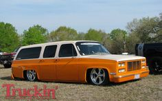 Tex Mex 2009 Truck Show Orange Cream Custom Gmc Suburban