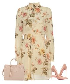 """Spring!"" by cristalmichel ❤ liked on Polyvore featuring Yves Saint Laurent and Christian Louboutin"