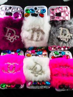 FREE SHIPPING HTC ONE M8 Designer Logo fur Cell Phone Case Pink White Gray in Cell Phones & Accessories | eBay