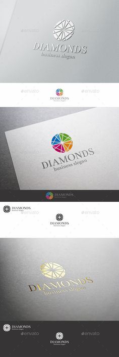Diamonds Logo Template — Vector EPS #bright #diamond group • Available here → https://graphicriver.net/item/diamonds-logo-template/9855773?ref=pxcr