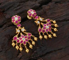 Betsey Johnson Mystic Baroque Queens Blue and Gold Moon and Star Drop Earrings – Fine Jewelry & Collectibles Ruby Jewelry, Ear Jewelry, Wedding Jewelry, Gold Jewelry, Gold Necklaces, Gold Earrings Designs, Gold Jewellery Design, Necklace Designs, Antique Earrings