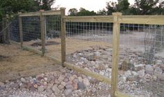 pine cattle panel fencing with decorative tops