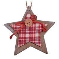 Χριστουγεννιάτικο Στολίδι Ξύλινο 8 εκ < Στολισμός Δέντρου