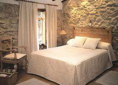 cortinas dormitorio rustico | inspiración de diseño de interiores
