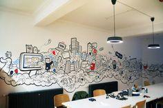 Capsule CRM Mural by Geo Law, via Behance