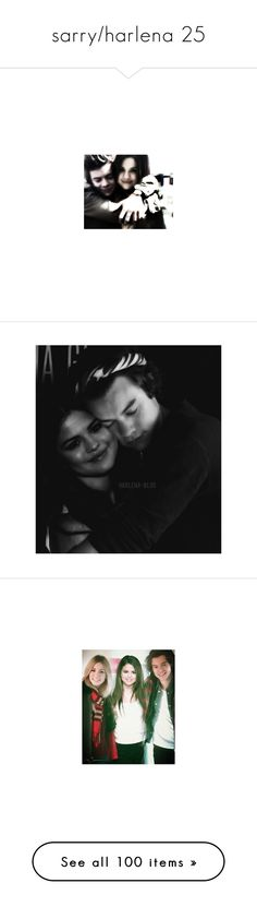 """""""sarry/harlena 25"""" by kgpaulisaa ❤ liked on Polyvore featuring selena gomez, other people, manip, sarry, selena, manips, one direction, selena and harry, sarry/harlena and harry styles"""