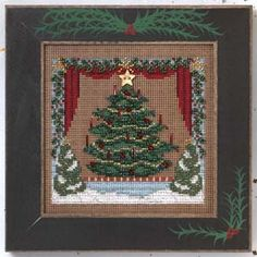 Trimming the Tree - Cross Stitch Pattern from Bendy Stitchy Designs. Nocturne using DMC floss. Stitch Count: x Design Size: x Cross Stitch Tree, Beaded Cross Stitch, Crochet Cross, Cross Stitch Samplers, Counted Cross Stitch Kits, Cross Stitching, Cross Stitch Embroidery, Cross Stitch Patterns, Hardanger Embroidery