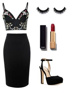 """Untitled #49"" by brianna10113 ❤ liked on Polyvore featuring Glamorous, Alexander McQueen, Michael Kors, Chanel, women's clothing, women, female, woman, misses and juniors"