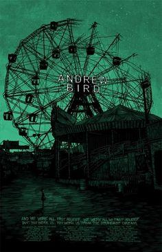 Andrew Bird poster by Daniel Danger