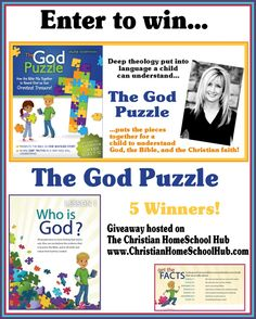 Enter to win this #homeschool giveaway: The God Puzzle @ http://www.christianhomeschoolhub.com/  Be 1 of 5 to win!!