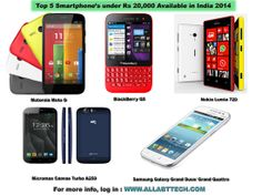 Top 5 Smartphone's under Rs 20,000 Available in India 2014