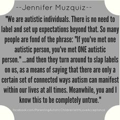 Labeling autistic people.