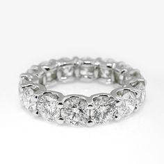 Beautiful eternity band from Jahan Diamond Imports with 4.35ct tw diamonds.  #jahandiamonds #weddingband