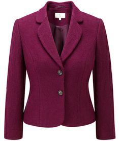 Plum Petite Boiled Wool Jacket