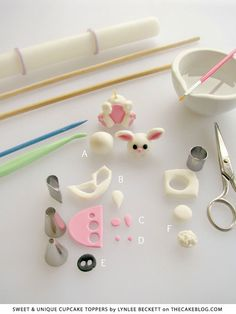 Easter Bunny Garden | tutorial from Sweet & Unique Cupcake Toppers by Lynlee Beckett 1