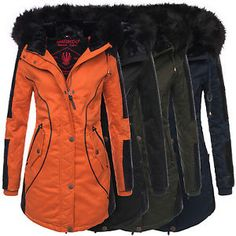 Marikoo Larissa Designer Damen Winter Parka warme Winterjacke Mantel Jacke B372 | eBay