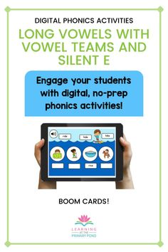 Check out this digital word work bundle! Help your students master long vowels spelled with vowel teams and silent e with these digital phonics activities! There are 33 boom decks included in this bundle, perfect for your second grade students! Phonemic Awareness Activities, Phonological Awareness, Word Work Activities, Phonics Activities, Vowel Practice, Digital Word, Spelling Patterns, Reading Anchor Charts, Reading Comprehension Strategies