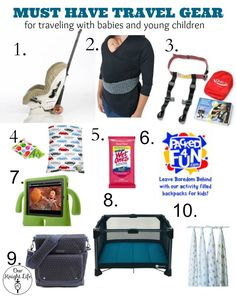 Traveling with babies and kids is a whole lot easier with these products! #Travel #BabyGear