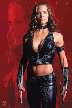 Jennifer Garner played Elektra got stabbed and then got another spin-off for herself. Description from digestivepyrotechnics.blogspot.com. I searched for this on bing.com/images