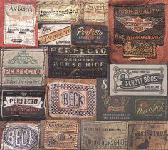 Other vintage goodness. Vintage Packaging, Vintage Branding, Vintage Tags, Vintage Labels, Vintage Costumes, Vintage Outfits, Shirt Label, Fabric Labels, Clothing Labels
