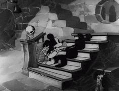 my gif gif disney mickey mouse Halloween animation disney gif Haunted House 1930s The Mad Doctor 1933 30s halloween gif mickey mouse gif
