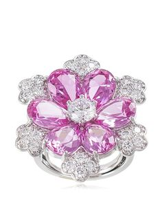 CZ by Kenneth Jay Lane 12 Cttw Multi CZ Floral Ring, http://www.myhabit.com/redirect/ref=qd_sw_dp_pi_li?url=http%3A%2F%2Fwww.myhabit.com%2Fdp%2FB00ZXXTV8G%3F