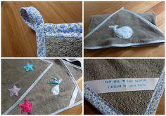 L'atelier du Lapin Masqué: DIY Cadeau de naissance : une cape de bain